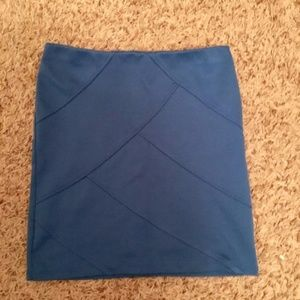 Xhilaration Skirts - Blue Zip-Up Bodycon Skirt